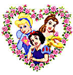 Click for more details of Disney Princesses (cross-stitch kit) by Disney by Vervaco