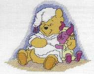 Click for more details of Disney's Winnie the Pooh and Piglet (cross-stitch kit) by Royal Paris