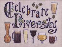 Click for more details of Diversity in Beer (cross stitch) by Ink Circles