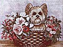 Click for more details of Dog Basket (tapestry kit) by Rico Design