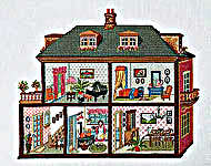 Click for more details of Doll's House (cross-stitch kit) by Permin of Copenhagen