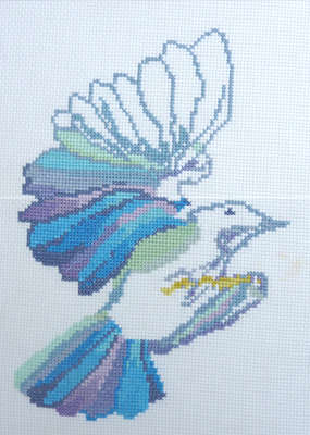 Click for more details of Dove (cross stitch) by Anne Peden