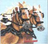 Click for more details of Draft Horses (cross stitch) by Pegasus