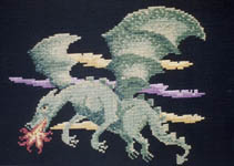 Click for more details of Dragon Flight (cross-stitch pattern) by X's & Oh's