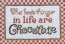 Click for more details of Dreaming of Chocolate (cross-stitch pattern) by Sue Hillis Designs