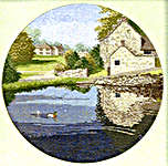 Click for more details of Duck Pond (cross stitch) by John Clayton