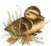 Duckling At Rest - cross-stitch kit by Marjolein Bastin