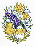 Click for more details of Easter Chicken Hatching (cross-stitch kit) by Eva Rosenstand