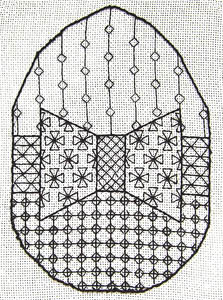Click for more details of Easter Egg (blackwork pattern) by Anne Peden