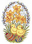 Click for more details of Easter Eggs and Chickens (cross-stitch kit) by Eva Rosenstand