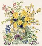 Easter Flowers - cross-stitch kit by Eva Rosenstand