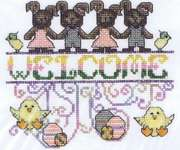 Click for more details of Easter Welcome (cross stitch) by MarNic Designs