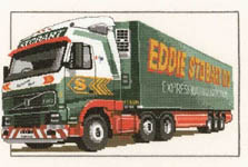 Click for more details of Eddie Stobart Ltd - Volvo FH12 (cross-stitch) by Dave Shaw