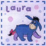 Click for more details of Eeyore Name Sampler (cross-stitch kit) by Disney by Anchor