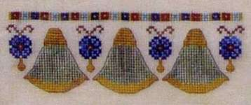 Click for more details of Egyptian Duo (cross-stitch pattern) by Turquoise Graphics & Designs