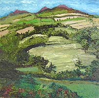 Click for more details of Eildon Hills (oil on canvas) by Shirley Rothwell