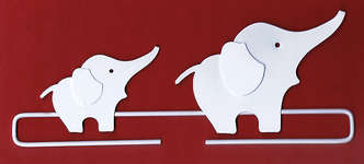 Click for more details of Elephants Deco Hanger (bell pulls) by Rico Design