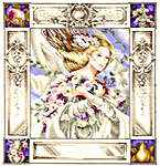 Click for more details of Elizabeth and the Lavender Sky (cross-stitch pattern) by Mirabilia Designs
