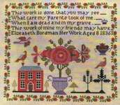 Click for more details of Elizeabeth Bordman 1836 (cross stitch) by Victorian Rose Needlearts