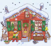 Click for more details of Elves' House (cross-stitch kit) by Bothy Threads