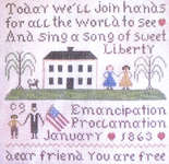 Click for more details of Emancipation (cross-stitch pattern) by Primitive Needleworks