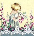 Click for more details of Emma's Garden (cross-stitch pattern) by Lavender & Lace