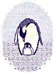 Click for more details of Emperor Penguin (blackwork kit) by Classic Embroidery