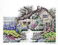 Click for more details of English Cottage (cross-stitch) by Eva Rosenstand
