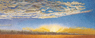 Click for more details of Evening Sky with Stratus clouds (cross-stitch kit) by Thea Gouverneur
