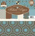 "Click for more details of Fabric Paper Stack - 12"" x 12"" Blue Floral (paper) by DCWV"
