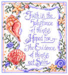 Click for more details of Faith is not seen (cross stitch) by Imaginating