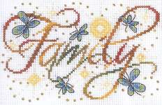 Click for more details of Family (cross stitch) by Design Works