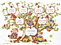 Click for more details of Family Tree (cross-stitch kit) by Lanarte