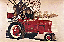 Click for more details of Farmall Tractor (cross stitch) by Puckerbush Inc.