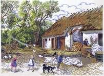 Click for more details of Farmyard Scene (cross stitch) by Eva Rosenstand