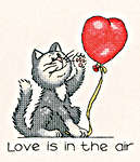 Click for more details of February Cat (cross-stitch kit) by Peter Underhill