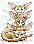 Click for more details of Fennec Fox Family (cross stitch) by MP Studios