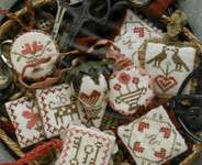 Click for more details of Festive Little Fobs Valentine Edition (cross stitch) by Heartstring Samplery