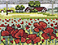 Click for more details of Field of Poppies (cross-stitch kit) by Permin of Copenhagen