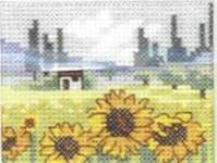 Click for more details of Field of Sunflowers (cross stitch) by Permin of Copenhagen