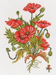 Click for more details of Field Poppies (cross-stitch kit) by Eva Rosenstand