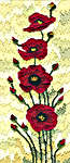Click for more details of Field Poppies (long-stitch) by Jean Coates
