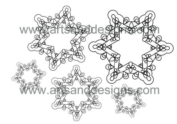 Click for more details of Filigree Snowflakes Digital Stamp (digital downloads) by Julie Lynes