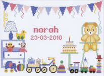 Click for more details of First Birthday (cross-stitch) by Lanarte