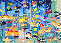 Click for more details of Fish City (cross-stitch) by Stoney Creek