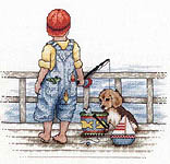 Click for more details of Fishing (cross stitch) by Bobbie G. Designs