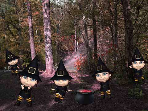 Click for more details of Five Little Witches (digital downloads) by DawnsDesigns