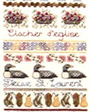 Click for more details of Fleur de Lys Sampler (cross stitch) by Jeannette Douglas