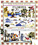 Click for more details of Florida Sampler (cross stitch) by Ginger & Spice