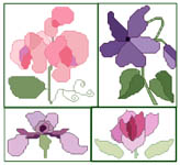 Click for more details of Flower Cards (cross-stitch) by Anne Peden